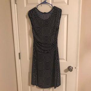 Enfocus Studio Black with White Pattern Dress 12